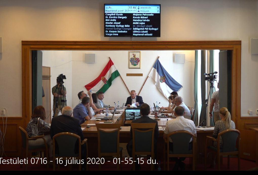 Képviselőtestületi ülés 2020 07 16